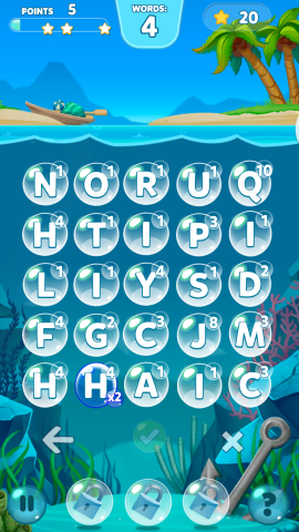 Bubble Words - Wortpuzzle