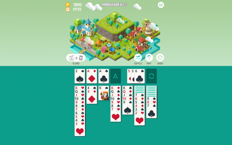 Age of solitaire city building game