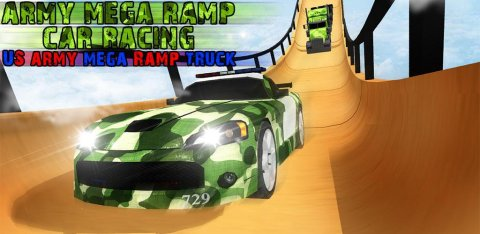 Army Mega Ramp Car Racing: US Army MegaRamp Truck
