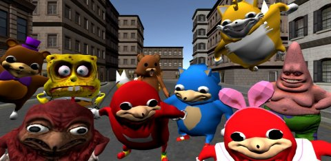 Ugandan Knuckles Simulator: Meme Salvation 3D
