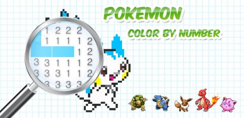 Color by Number Pokemon Pixel Art