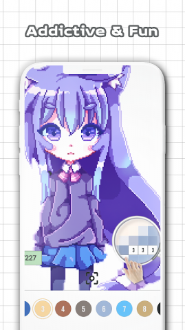 Anime & Manga Color by Number: Sandbox Pixel Art