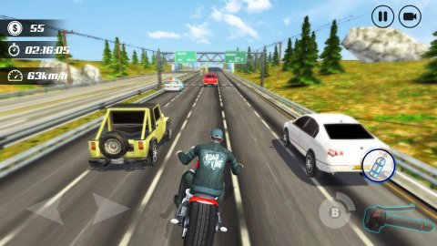 Highway Moto Rider: Traffic Race