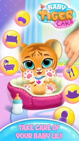 Baby Tiger Care: My Cute Virtual Pet Friend