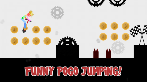 Stickman Pogo Destruction: Ragdoll Jump to Die